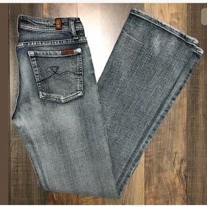 7 for all mankind bootcut 28 x 32 jeans